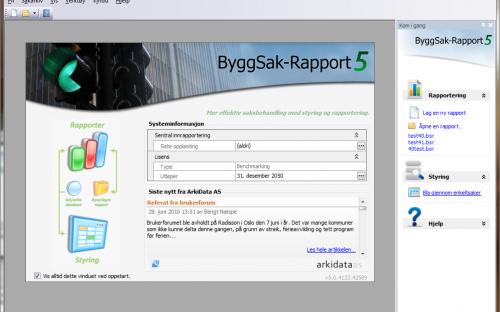 Åpningsbildet i versjon 5